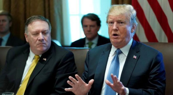 Donald Trump and Mike Pompeo