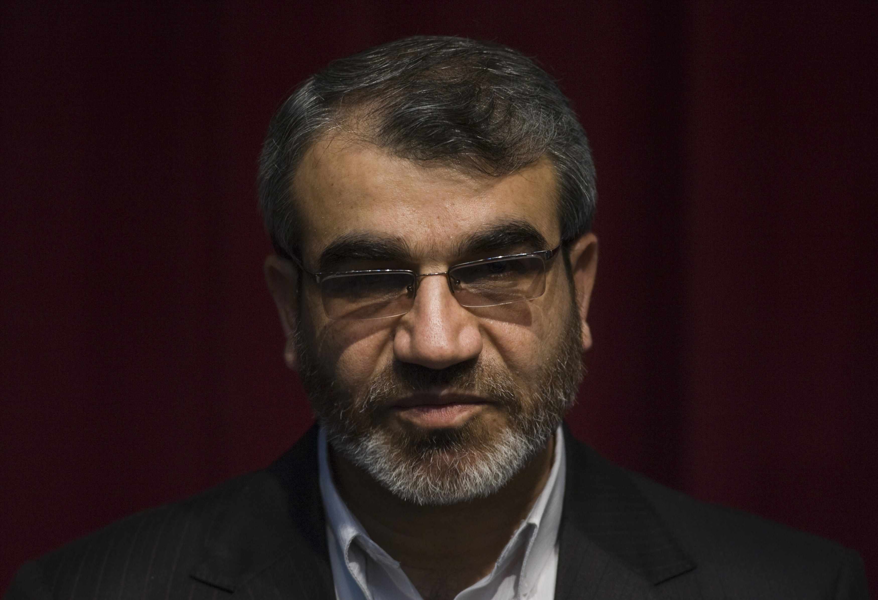FILE PHOTO: Abbasali Kadkhodai, spokesman of the Guardian Council, looks on while attending a news conference in Tehran.REUTERS/