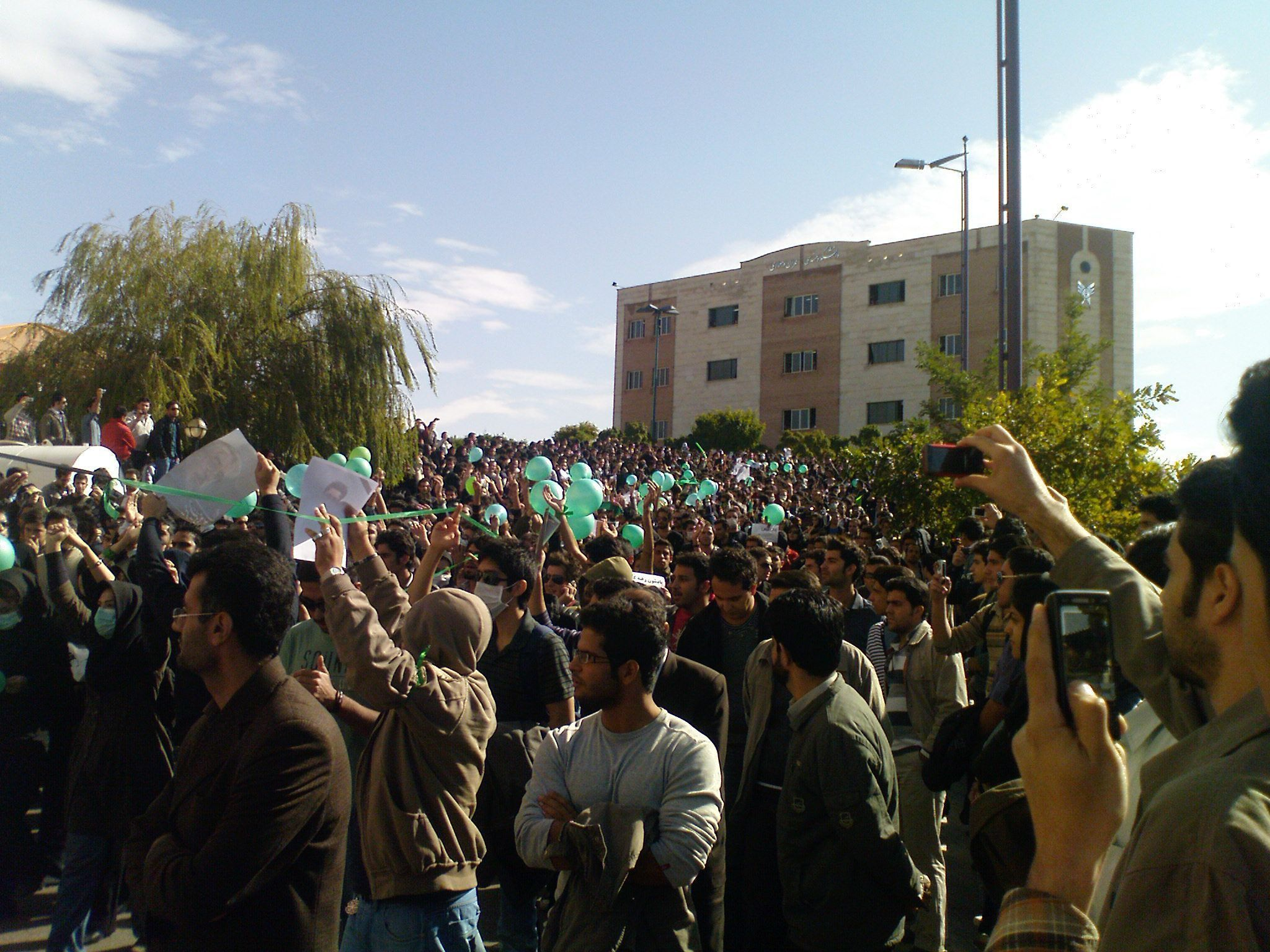 Protests_in_azad_university_of_qazvin