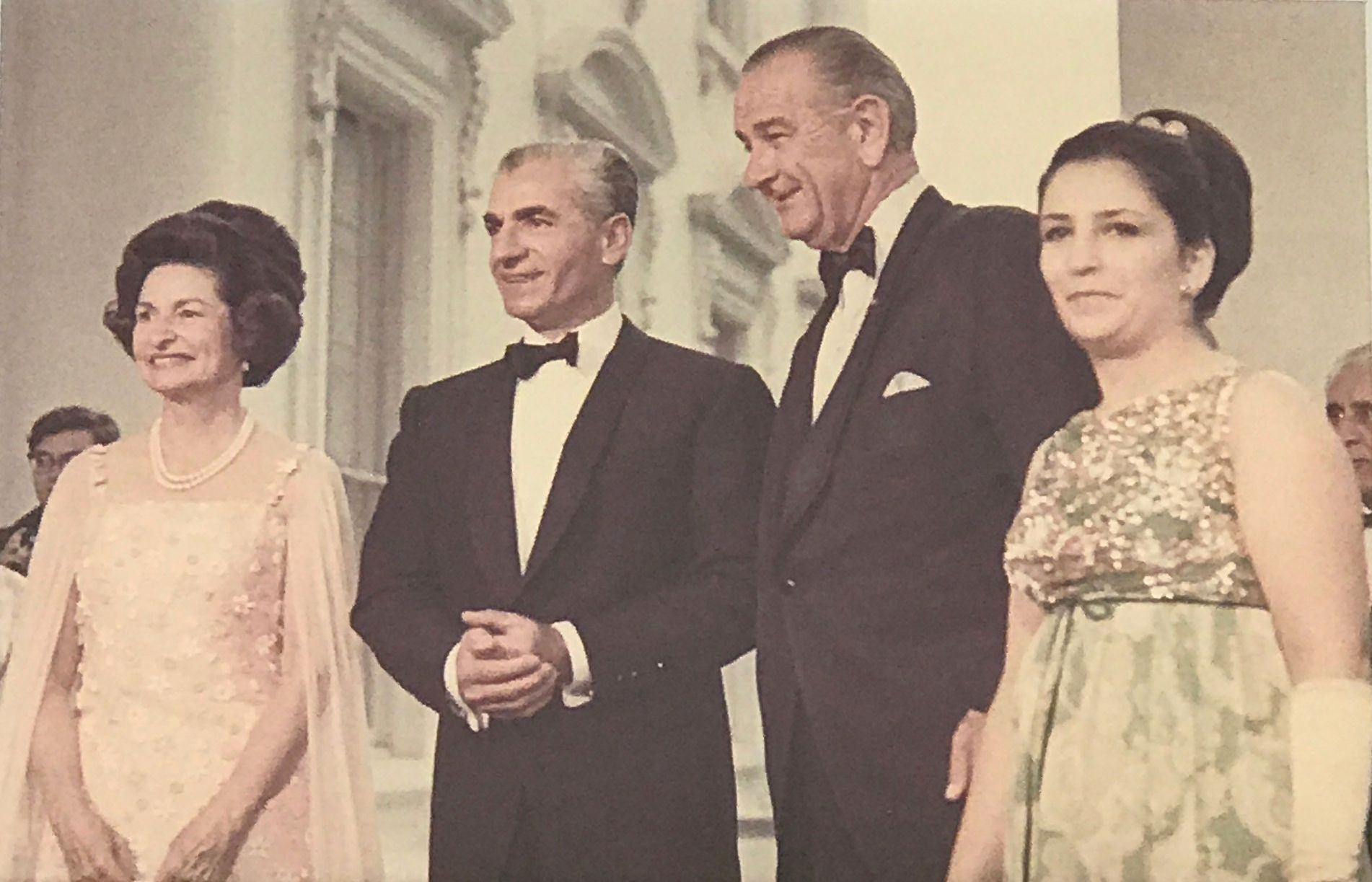 Lady-Bird-Johnson-HIM-Mohamad-Reza-Pahlavi-President-Johnson-Maryam-a