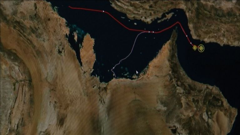 Tracking map tells tale of tankers in suspected attack in
