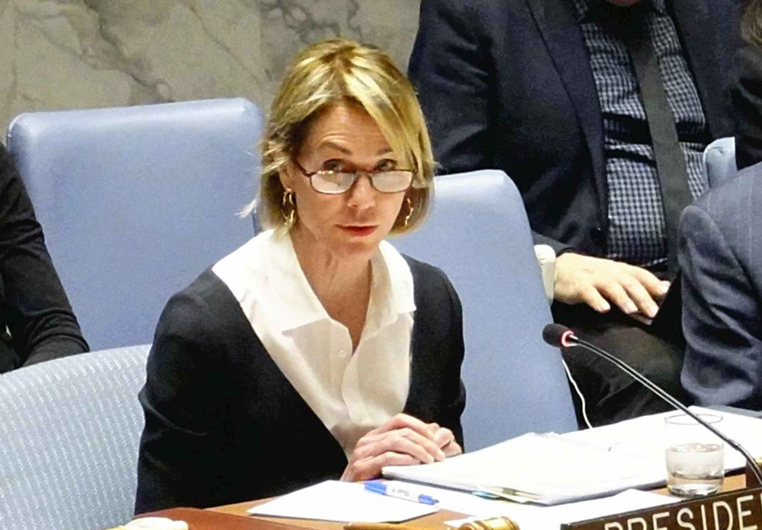 2019-12-11T071758Z_1561857028_MT1YOMIURAR191212UN001_RTRMADP_3_U-S-AMBASSADOR-TO-THE-UNITED-NATIONS-KELLY-CRAFT-SPEAKS-DURING-scaled