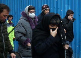 An Iranian Woman Wears Protective Mask